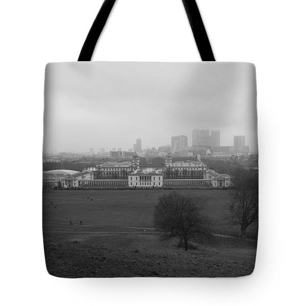 Tote Bag featuring the photograph Greenwich View by Maj Seda