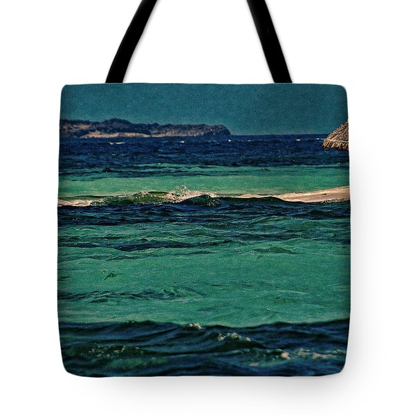 Tote Bag featuring the photograph Grenadines Umbrella by Don Schwartz