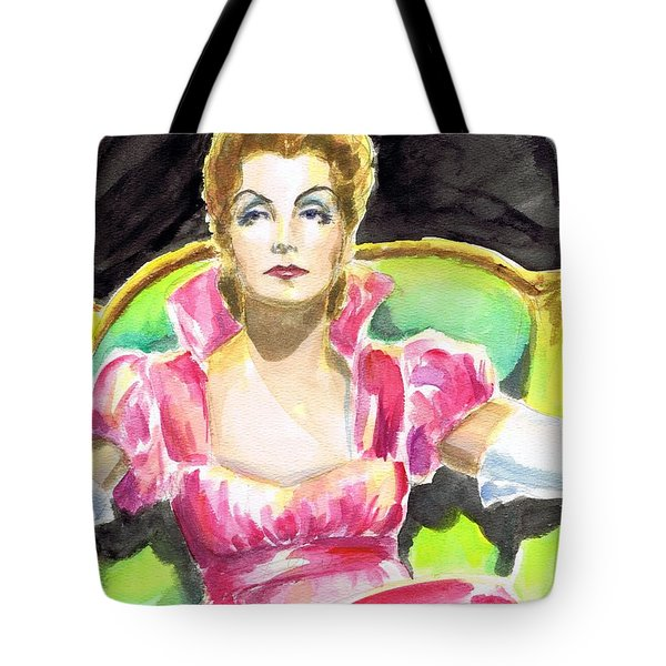 Greta Garbo Tote Bag by Mel Thompson