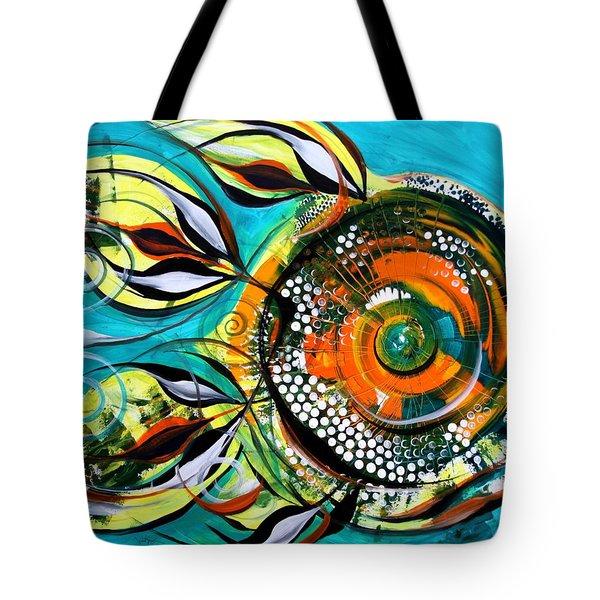 Gretchen Fish A Citrus Twist Tote Bag