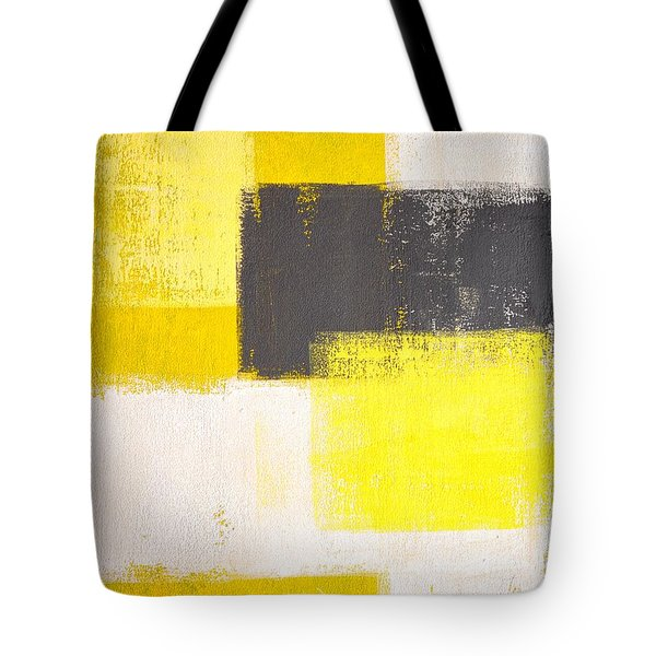 Simply Modern - Grey And Yellow Abstract Art Painting Tote Bag