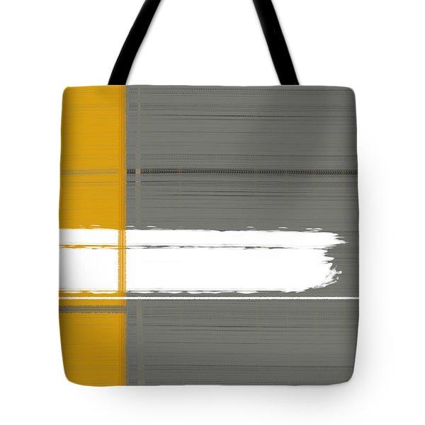 Grey And Yellow Tote Bag