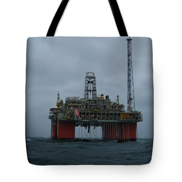Grey Day At Snorre Tote Bag