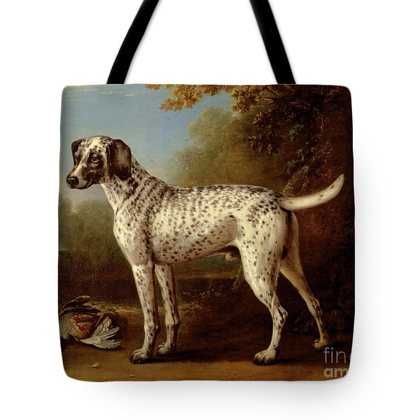 Grey Spotted Hound Tote Bag by John Wootton