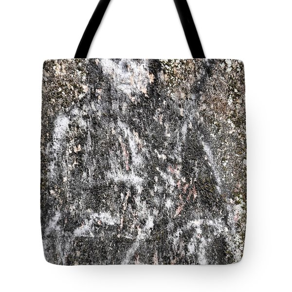 Grim Graffiti Tote Bag by Kristie  Bonnewell