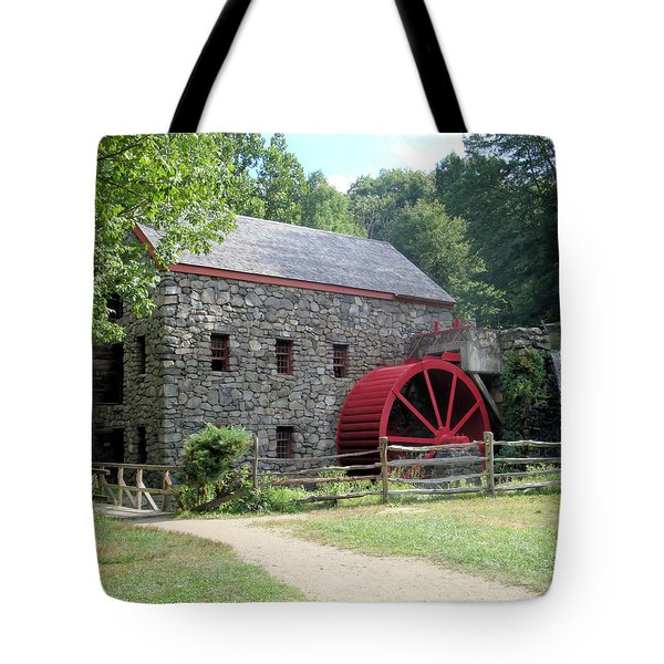 Grist Mill  Massachusetts Tote Bag by Patricia Urato