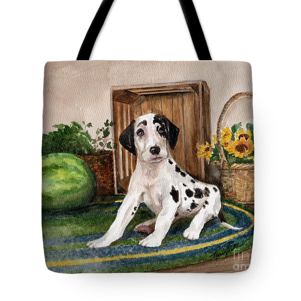 Tote Bag featuring the painting Growing Fast by Nancy Patterson