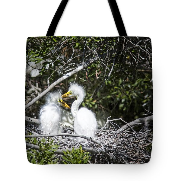 Growing Nestlings Tote Bag by Phill Doherty