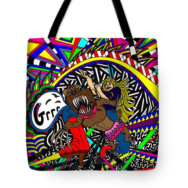 Grrr Tote Bag by Karen Elzinga
