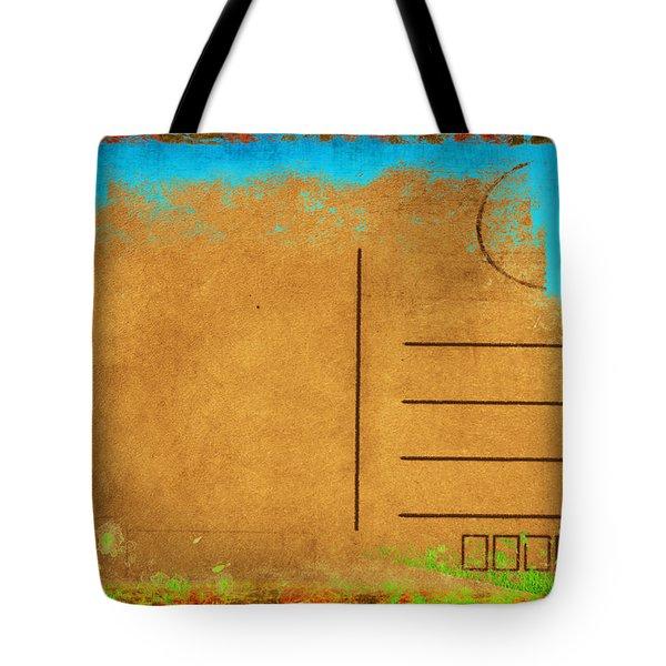 Grunge Color On Old Postcard Tote Bag by Setsiri Silapasuwanchai