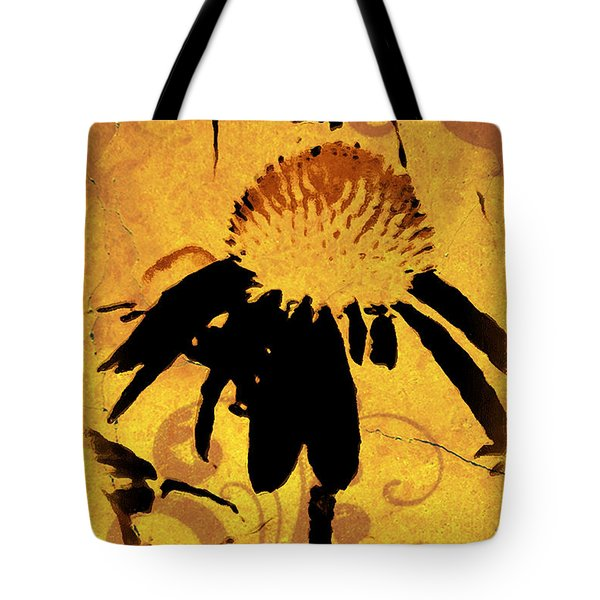 Grunge  Daisy Art Tote Bag