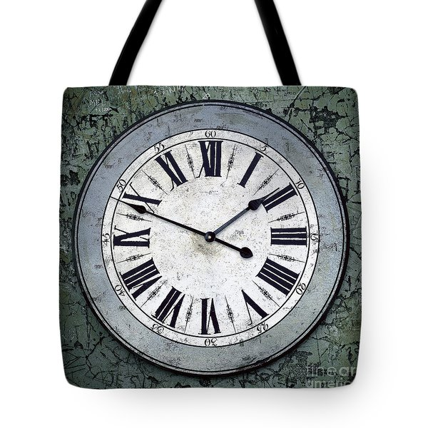Grungy Clock Tote Bag by Carlos Caetano