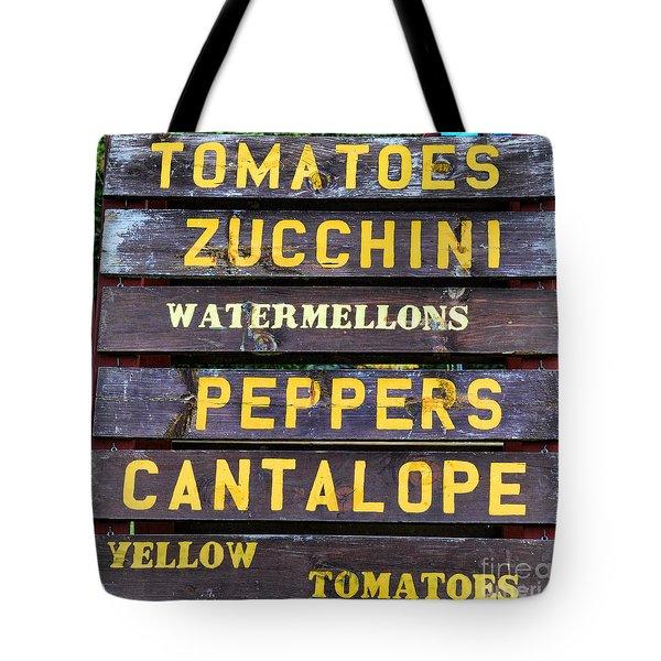Guaranteed Farm Fresh Foods  Tote Bag