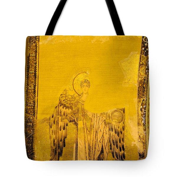 Guardian Angel Byzantine Art Tote Bag by Artur Bogacki