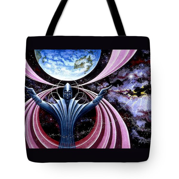 Tote Bag featuring the painting Guardian Angel by Hartmut Jager