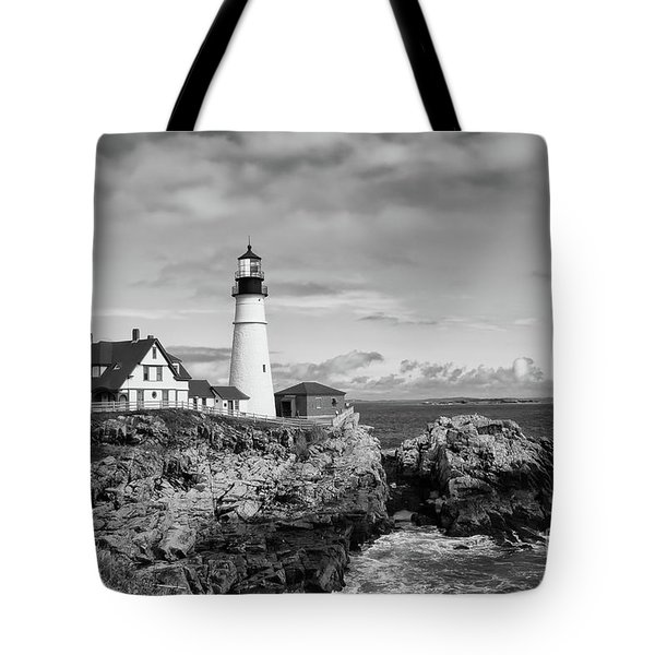 Guarding Ship Safety Bw Tote Bag