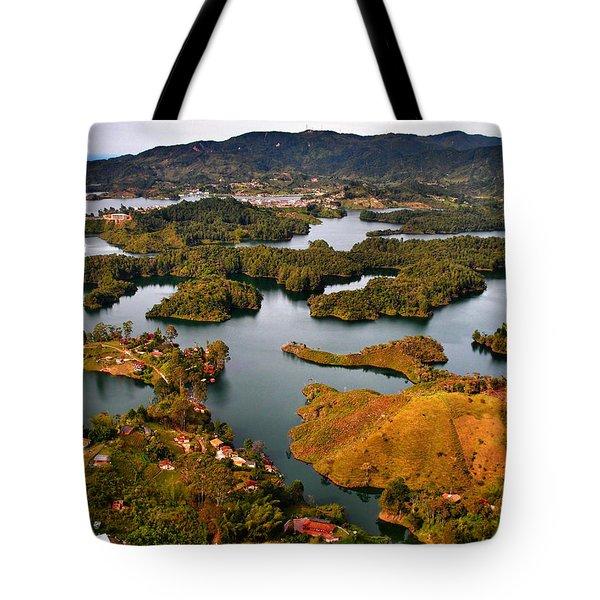 Guatape Tote Bag by Skip Hunt