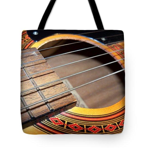 Guitar Portrait Tote Bag