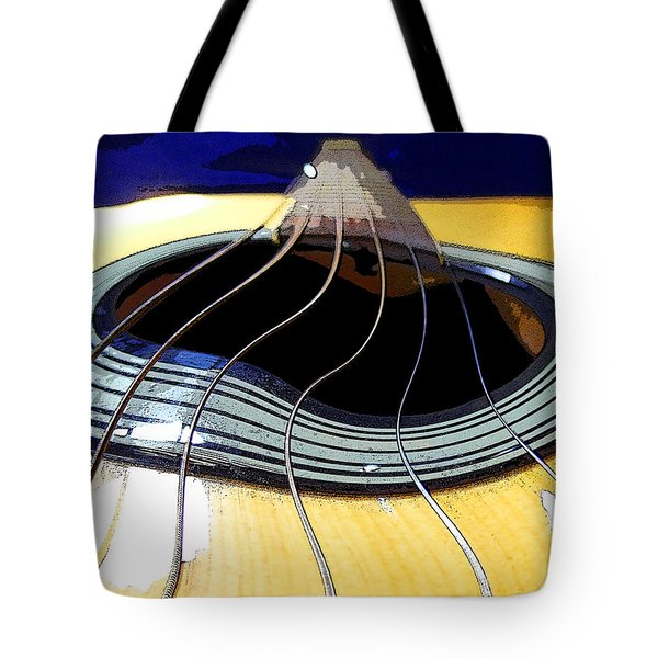 Guitar Warp Tote Bag by Anne Mott