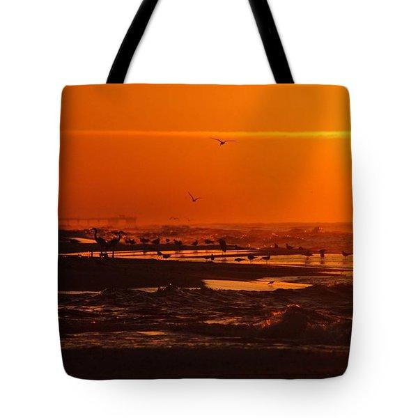 Gulf Coast Sunday Morning Tote Bag by Michael Thomas