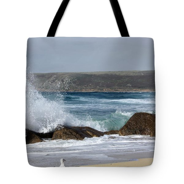 Gull On The Sand Tote Bag by Linsey Williams