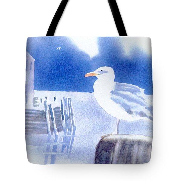 Gull Watch Tote Bag by Joseph Gallant