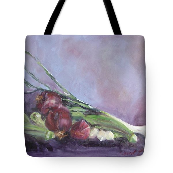 Tote Bag featuring the painting Gumbo  by Carol Berning