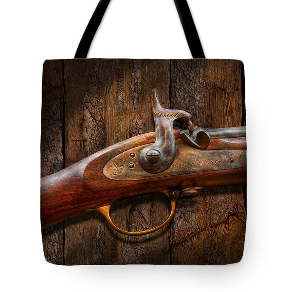 Gun - Musket - London Armory  Tote Bag by Mike Savad