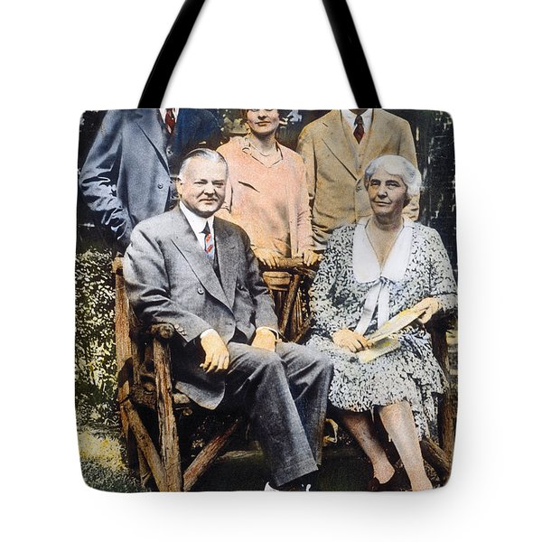 H. Hoover And Family Tote Bag by Granger