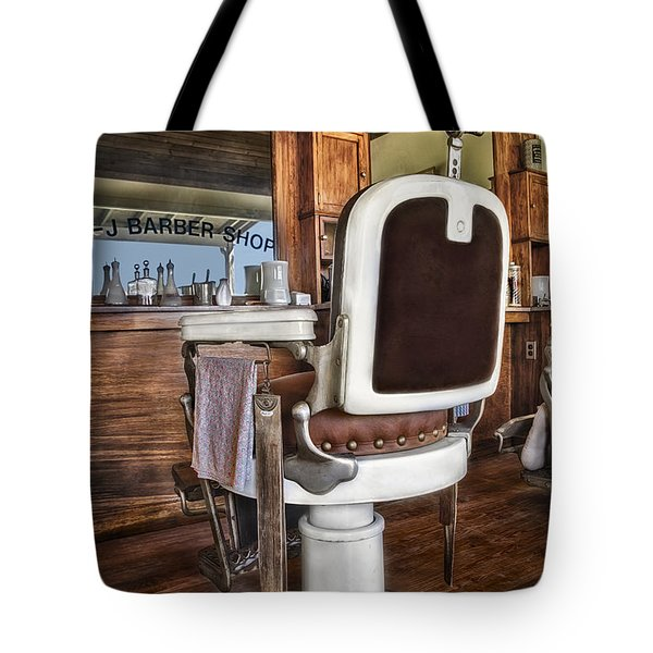 H J Barber Shop Tote Bag by Susan Candelario