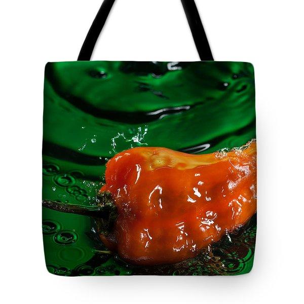Habanero Pepper Freshsplash 2 Tote Bag by Steve Gadomski