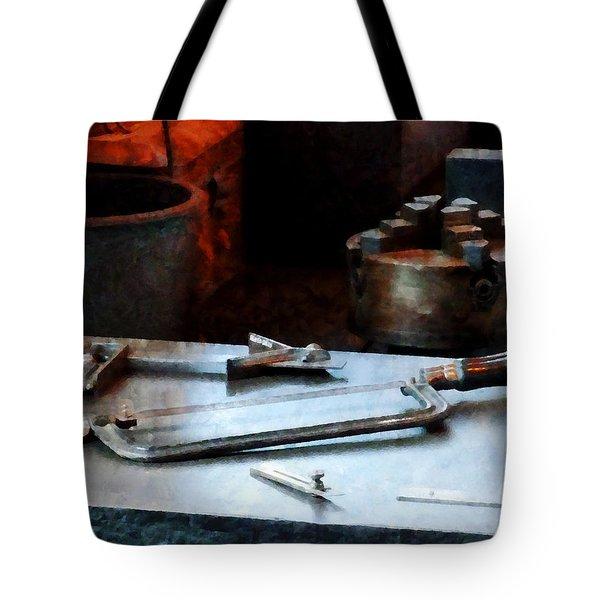 Hacksaw Tote Bag by Susan Savad