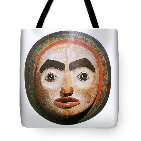 Haida Moon Mask Tote Bag by Photo Researchers