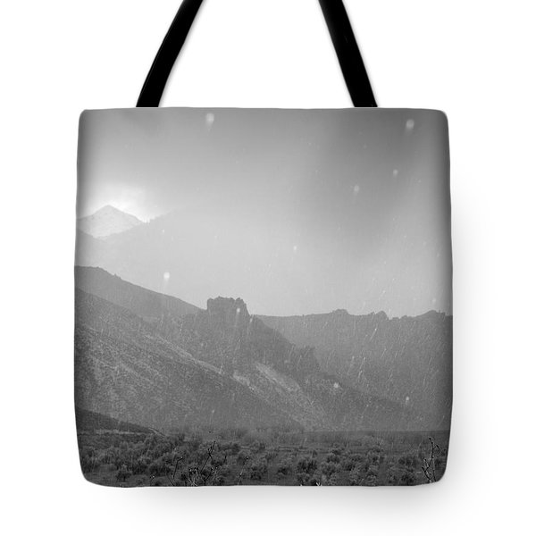 Hail Storm In The Mountains Tote Bag by Guido Montanes Castillo