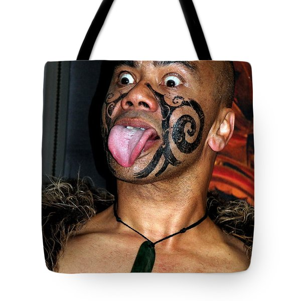 Tote Bag featuring the photograph Haka Dancer by Laurel Talabere