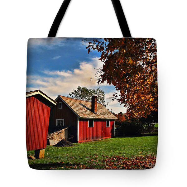 Hale Farm In Autumn Tote Bag by Joan  Minchak