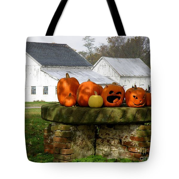 Tote Bag featuring the photograph Halloween Scene by Lainie Wrightson