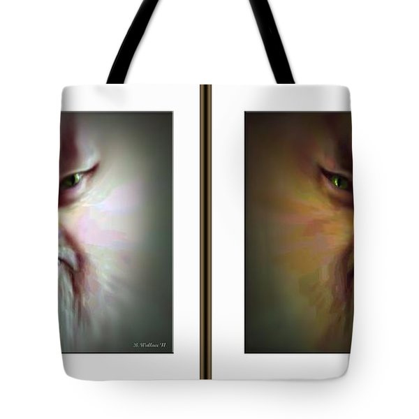 Halloween Self Portrait - Gently Cross Your Eyes And Focus On The Middle Image Tote Bag by Brian Wallace