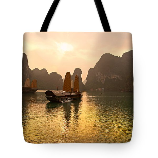 Tote Bag featuring the photograph Halong Bay - Vietnam by Luciano Mortula