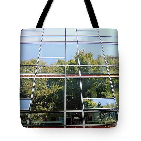 Hamburg Building Reflection Tote Bag by Eva Kaufman