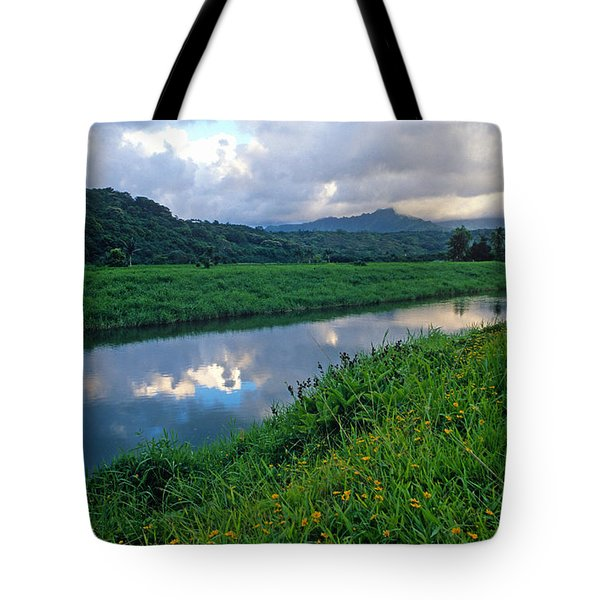 Hanalei River Reflections Tote Bag by Kathy Yates