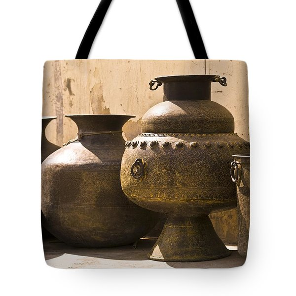 Hand Crafted Jugs, Jaipur, India Tote Bag by Keith Levit