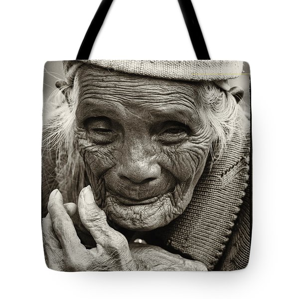 Hands Of Time Tote Bag by Skip Nall