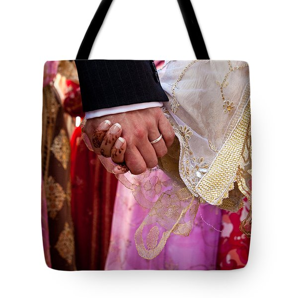 Hands Tote Bag by Tom Gowanlock