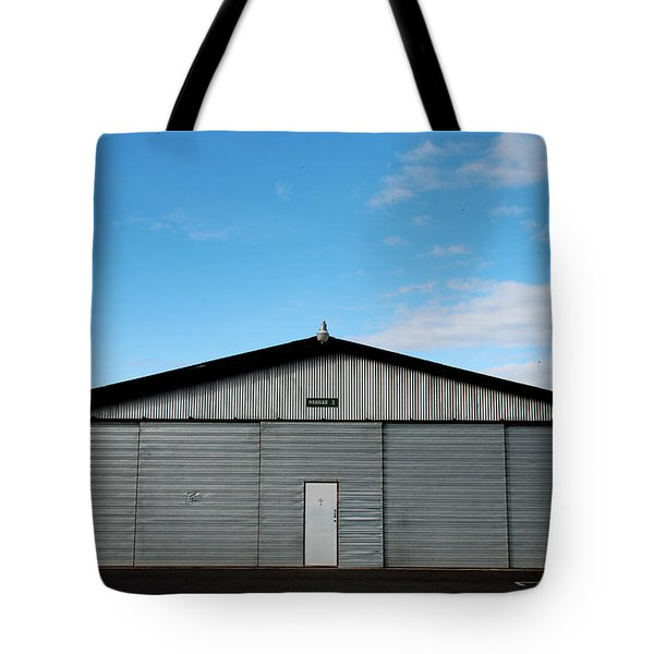Tote Bag featuring the photograph Hangar 2 The Building by Kathleen Grace