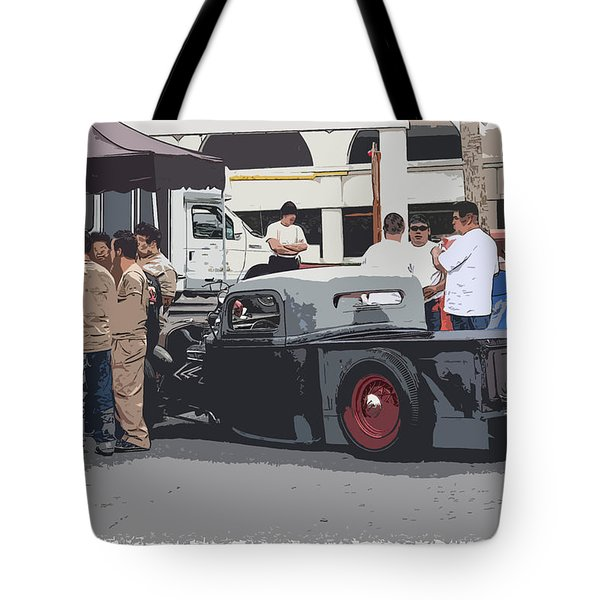 Hanging At The Car Show Tote Bag by Steve McKinzie
