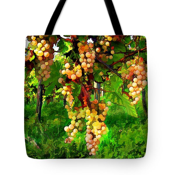 Hanging Grapes On The Vine Tote Bag by Elaine Plesser