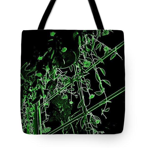Tote Bag featuring the photograph Hanging Plants In Window by Renee Trenholm