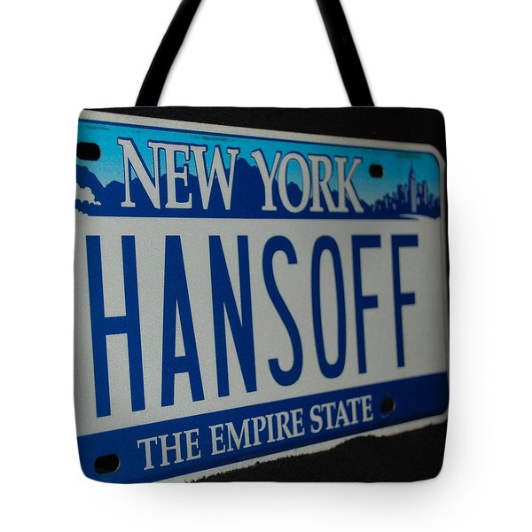 Hans Off Tote Bag by Rob Hans