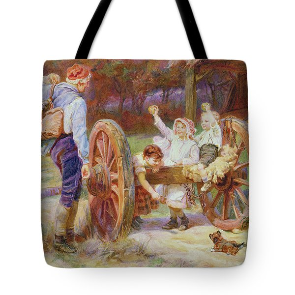 Happy As The Days Are Long Tote Bag by Frederick Morgan